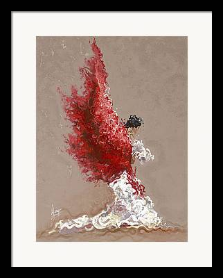 Movement Paintings Framed Prints