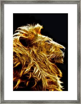 Fire Lion Framed Print by Michael Durst