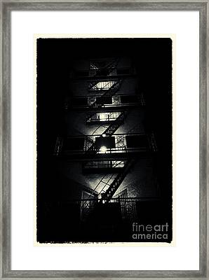 Fire Ladders Park Slope New York City Framed Print by Sabine Jacobs