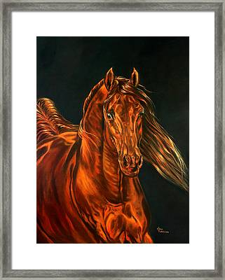 Framed Print featuring the painting Fire by Leena Pekkalainen