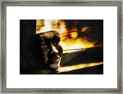 Fire Mask Framed Print by Scott Norris