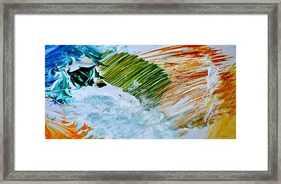 Fire Meets Water Framed Print