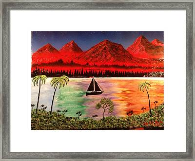 Framed Print featuring the painting Fire Mountain by Michael Rucker