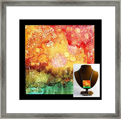 Fire Necklace Framed Print by Alene Sirott-Cope