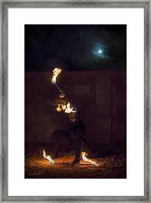 Fire Ninja Framed Print