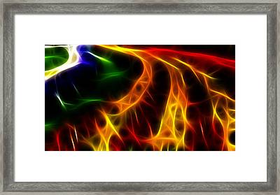 Fire Of Life Framed Print by Fabian Cardon