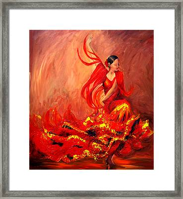 Fire Of Life Flamenco Framed Print