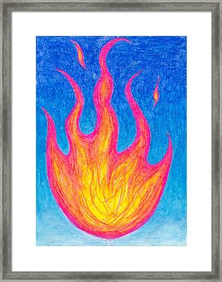 Fire Of Life Framed Print