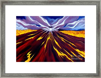 Fire Of Pele Framed Print