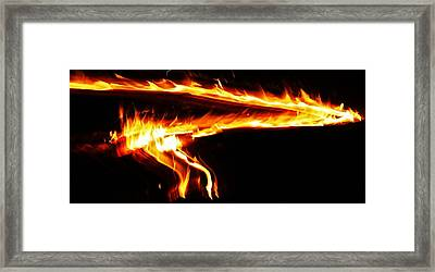 Framed Print featuring the photograph Fire On High... by Al Fritz