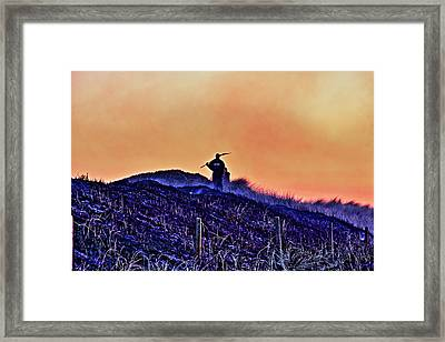 Fire On The Dunes Framed Print by Tony Reddington
