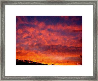 Fire On The Hillside Framed Print by Bruce Nutting