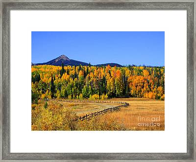 Fire On The Mountain Framed Print by Dana Kern