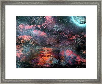 Fire On The Mountain Framed Print