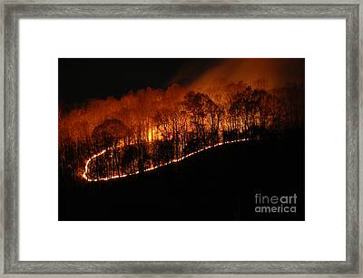 Fire On The Mountain Framed Print by Steven Townsend