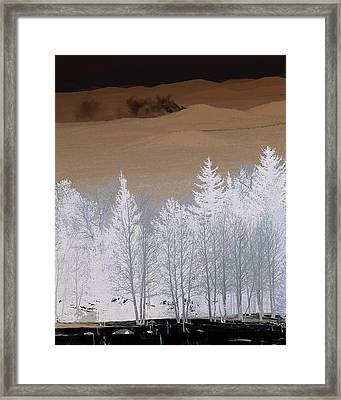 Framed Print featuring the photograph Fire On The Peaks by Tom Kelly