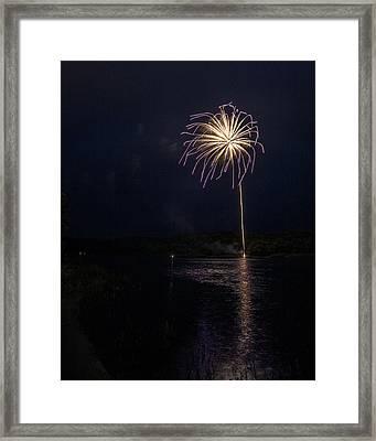 Fire On The River Purple Framed Print by Tim Radl