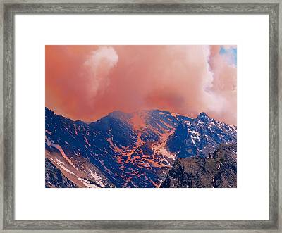 Fire On The Rocky Mountains Framed Print by Dan Sproul