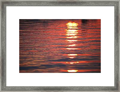 Framed Print featuring the photograph Fire On The Water by Brad Brizek