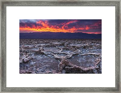 Fire Over Death Valley Framed Print