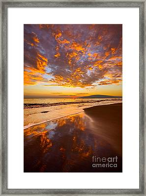 Fire Over Lahaina Framed Print