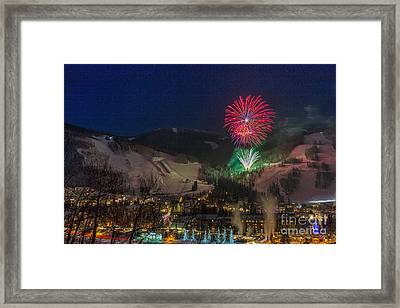Fire Over Vail Framed Print