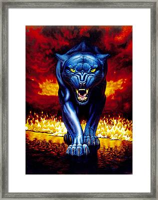 Fire Panther Framed Print by MGL Studio - Chris Hiett