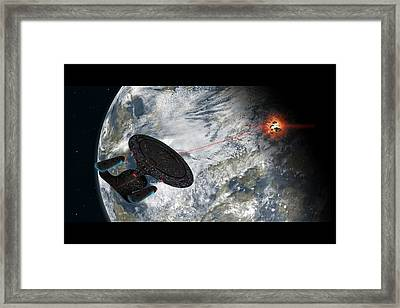 Fire Phasers Framed Print by Ian Merton