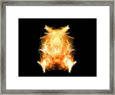 Framed Print featuring the digital art Fire Pig by R Thomas Brass