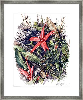 Framed Print featuring the painting Fire Pink by Bob  George