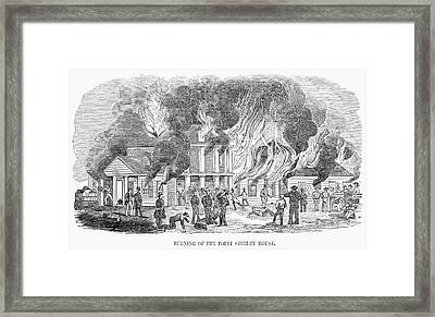 Fire Point Shirley, 1851 Framed Print