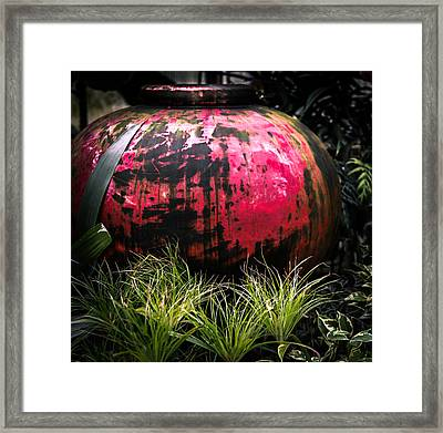 Fire Pot Framed Print by Karen Wiles