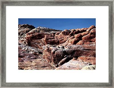 Fire Rocks Framed Print by John Rizzuto