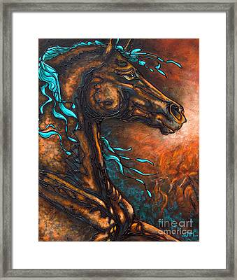 Fire Run Framed Print