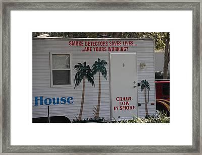 Fire Safety House Framed Print