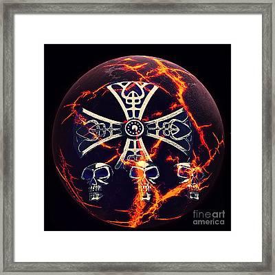 Fire Skulls Framed Print