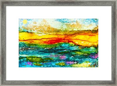 Fire Sky Framed Print by Alene Sirott-Cope