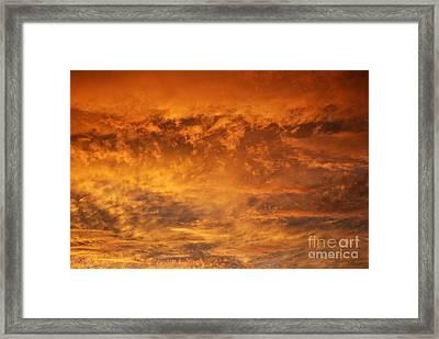 Fire Sky Framed Print by Manda Renee