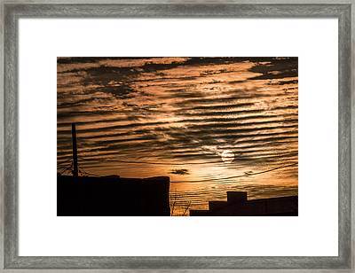 Framed Print featuring the photograph Fire Sky by Beverly Parks