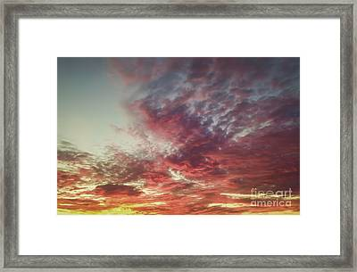 Fire Sky Framed Print by Holly Martin