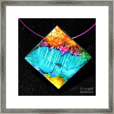 Fire Sky Necklace Framed Print
