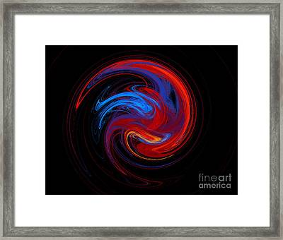 Fire Sphere Framed Print by Andee Design