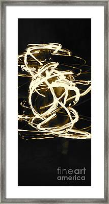 Fire Spin Framed Print by Ashley Ordines