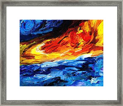 Fire Spring Framed Print