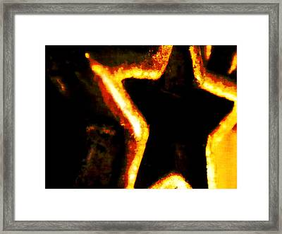 Fire Star Framed Print by Rebecca Flaig