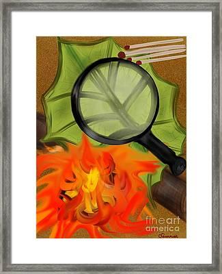 Fire Starter Framed Print by Christine Fournier