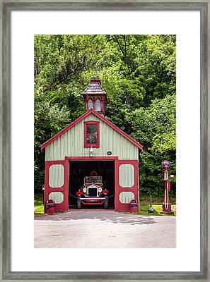 Fire Station Framed Print by Alexey Stiop