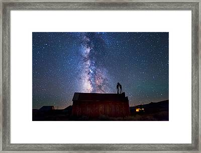 Fire Station At Bodie Framed Print by Cat Connor
