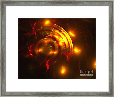 Framed Print featuring the digital art Fire Storm by Victoria Harrington