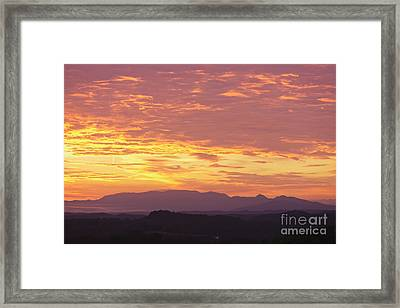 Fire Sunset Over Smoky Mountains Framed Print by Kay Pickens